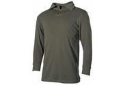 0670825b3 BW bavlněné tričko do roláku na zip, v olivové barvě. Materiál: 100% bavlna.