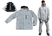 SCOTER - Snowboardová lyžařská bunda pánská šedá L